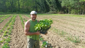 Shaun Daugherty of Fresh & Local on his farm in Bellevue